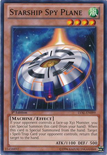 YuGiOh Zexal Legacy of the Valiant Common Starship Spy Plane LVAL-EN099