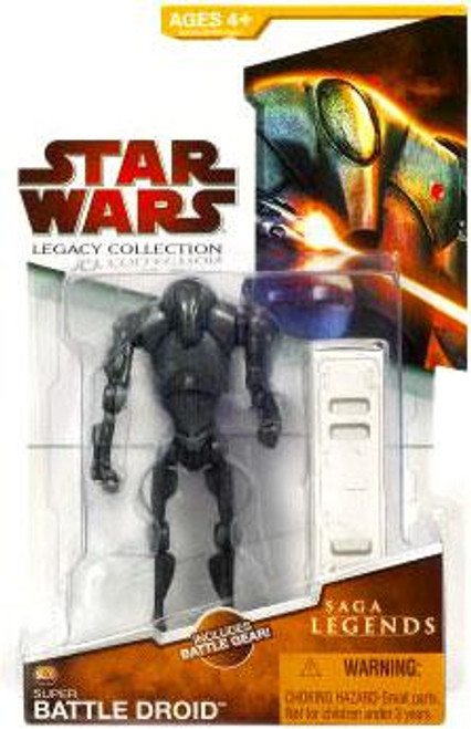 Star Wars Attack of the Clones Legacy Collection 2009 Saga Legends Super Battle Droid Action Figure SL05
