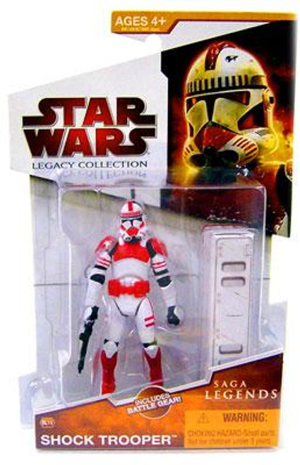 Star Wars Revenge of the Sith Legacy Collection 2009 Saga Legends Shock Trooper Action Figure SL14