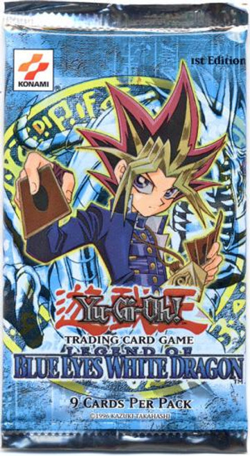 YuGiOh Legend of Blue Eyes White Dragon (1st Edition) Booster Pack