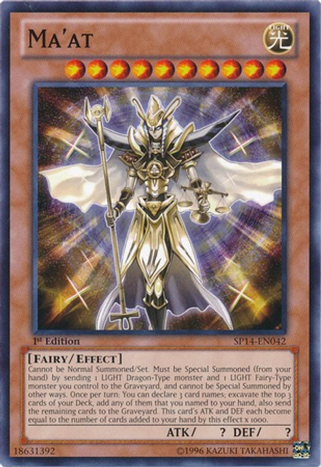 YuGiOh Zexal Star Pack 2014 Common Ma'at SP14-EN042