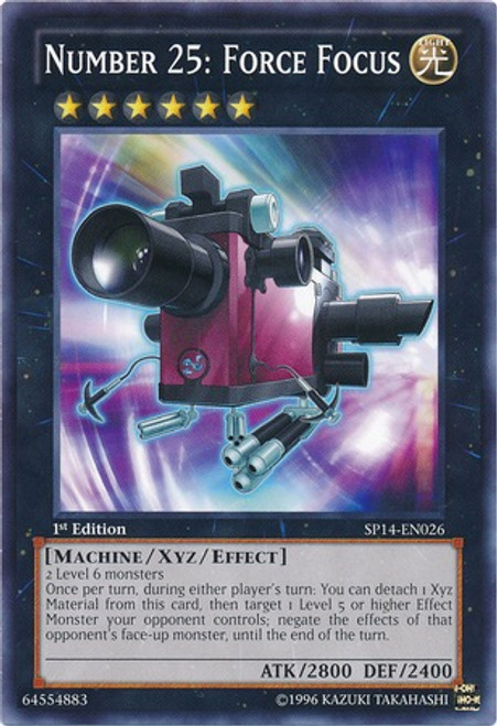 YuGiOh Zexal Star Pack 2014 Common Number 25: Force Focus SP14-EN026