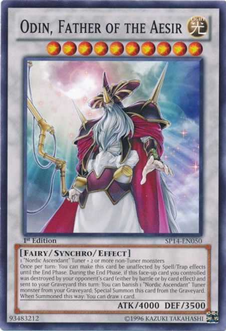 YuGiOh Zexal Star Pack 2014 Common Odin, Father of the Aesir SP14-EN050