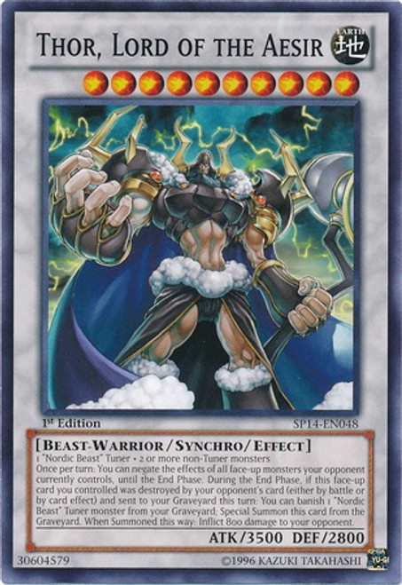 YuGiOh Zexal Star Pack 2014 Common Thor, Lord of the Aesir SP14-EN048