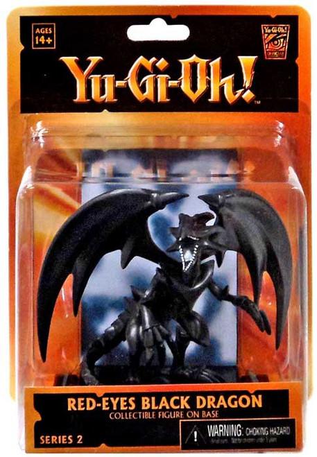 NECA YuGiOh Diorama Red Eyes Black Dragon 3.5-Inch Mini Figure
