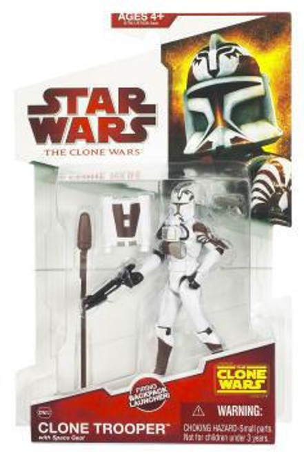 Star Wars The Clone Wars Clone Wars 2009 Clone Trooper with Space Gear Action Figure CW02