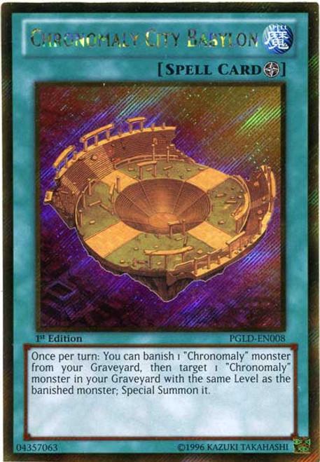 YuGiOh Premium Gold Gold Secret Rare Chronomaly City Babylon PGLD-EN008
