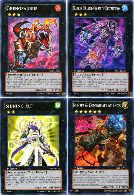 YuGiOh 2013 Super Starter: V for Victory Set of 4 XYZ Monster Common Single Cards YS13-ENV08 - YS13-ENV11