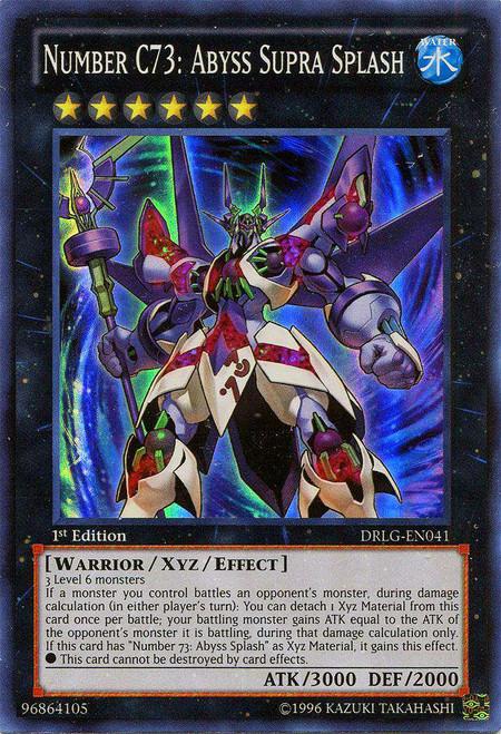 56d5b439119d ... Abyss Supra Splash DRLG-EN041 Super ... YuGiOh Dragons of Legend Single  Card Super Rare Number C73 .