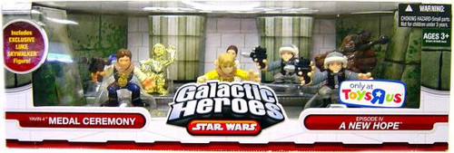 Star Wars A New Hope Galactic Heroes Cinema Scenes Yavin IV Medal Ceremony Exclusive Mini Figure Set