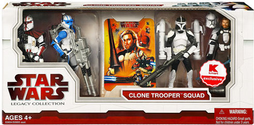 Star Wars The Clone Wars Legacy Collection 2009 Exclusives Clone Trooper Squad Exclusive Action Figure Set