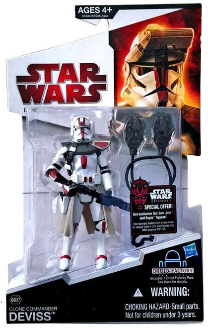 Star Wars The Clone Wars Legacy Collection 2009 Droid Factory Commander Deviss Action Figure BD37