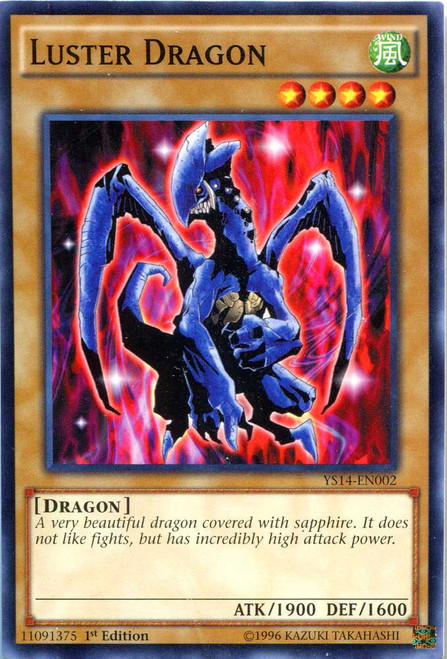 YuGiOh Space-Time Showdown Common Luster Dragon YS14-EN002