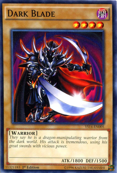 YuGiOh Space-Time Showdown Common Dark Blade YS14-EN005