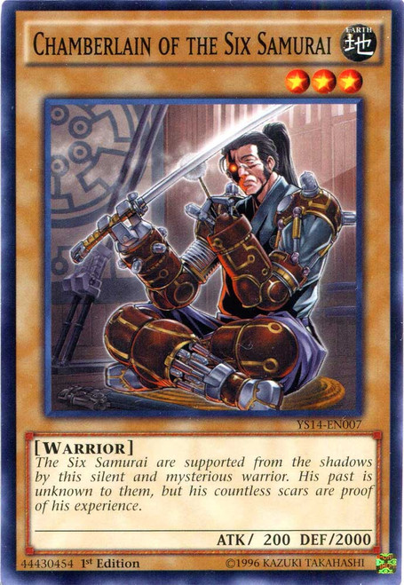 YuGiOh Space-Time Showdown Common Chamberlain of the Six Samurai YS14-EN007