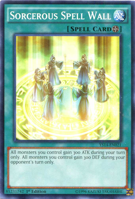 YuGiOh Space-Time Showdown Common Sorcerous Spell Wall YS14-EN021