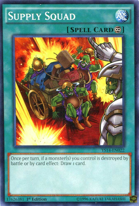 YuGiOh Space-Time Showdown Common Supply Squad YS14-EN022