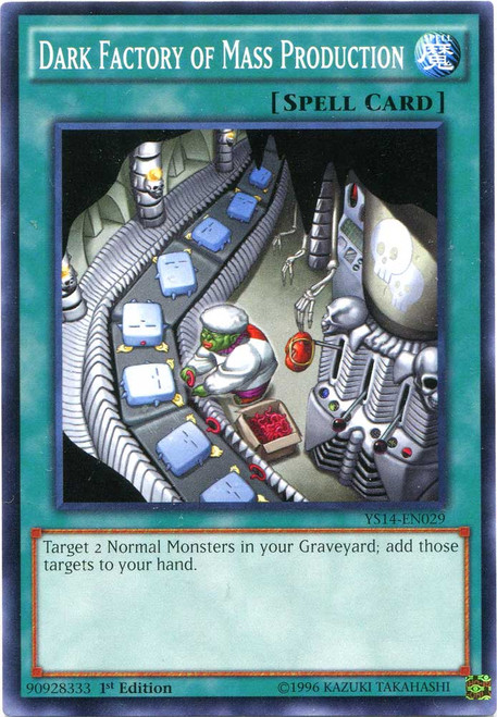 YuGiOh Space-Time Showdown Common Dark Factory of Mass Production YS14-EN029