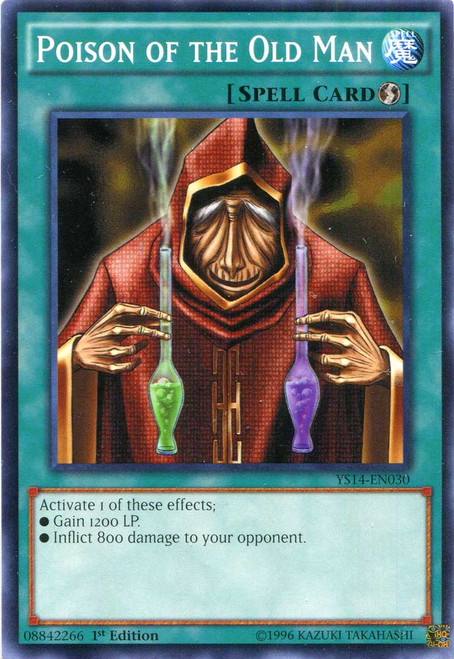 YuGiOh Space-Time Showdown Common Poison of the Old Man YS14-EN030