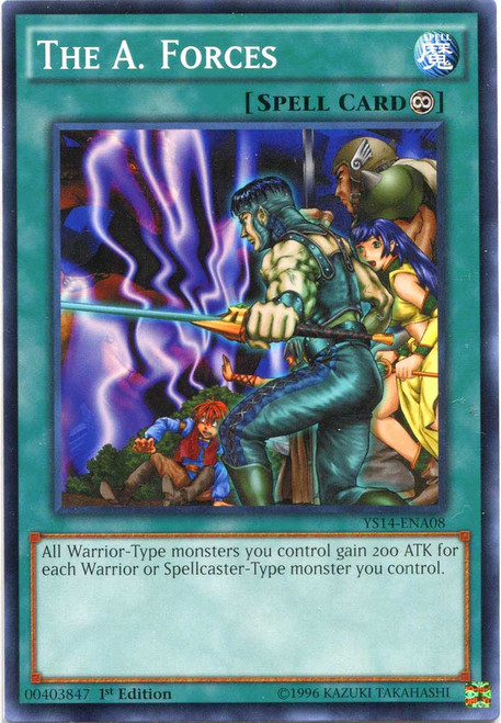 YuGiOh Space-Time Showdown Common The A. Forces YS14-ENA08