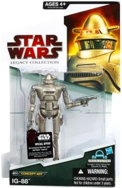 Star Wars Expanded Universe Legacy Collection 2009 Droid Factory IG-88 Action Figure BD40 [Concept Art Series]