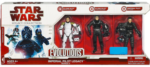 Star Wars Expanded Universe Legacy Collection 2009 Exclusives Imperial Pilot Legacy Evolutions Exclusive Action Figure Set [Series II]