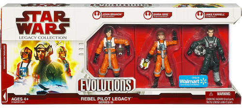 Star Wars Expanded Universe Legacy Collection 2009 Exclusives Rebel Pilot Legacy Evolutions Exclusive Action Figure Set [Series III]