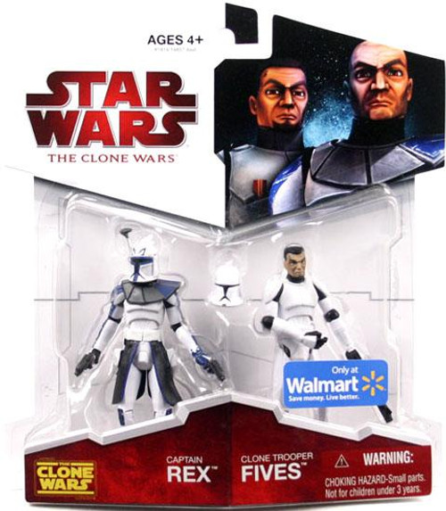 Star Wars The Clone Wars Clone Wars 2009 Captain Rex & Clone Trooper Fives Exclusive Action Figure 2-Pack