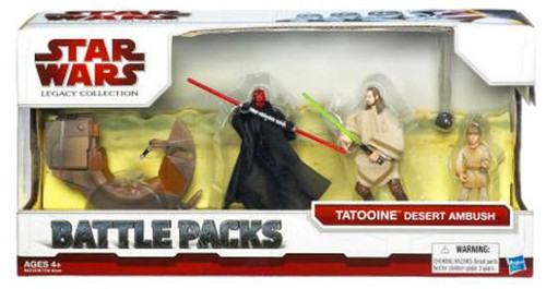 Star Wars The Phantom Menace Battle Packs 2009 Tatooine Desert Ambush Action Figure Set