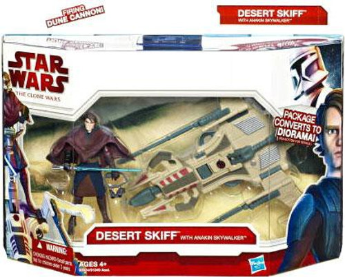 Star Wars The Clone Wars Vehicles & Action Figure Sets 2010 Desert Sport Skiff with Anakin Skywalker Action Figure Set