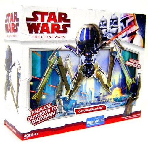 Star Wars The Clone Wars Vehicles 2009 Octuptarra Droid Exclusive Action Figure Vehicle