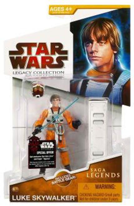 Star Wars A New Hope Legacy Collection 2009 Saga Legends Luke Skywalker Action Figure SL17