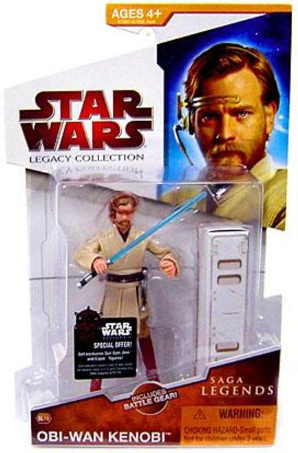 Star Wars Revenge of the Sith Legacy Collection 2009 Saga Legends Obi-Wan Kenobi Action Figure SL19 [Pilot]