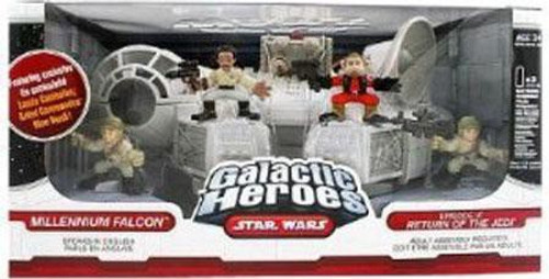 Star Wars Return of the Jedi Galactic Heroes Cinema Scenes Millennium Falcon Mini Figure Set [Episode VI]
