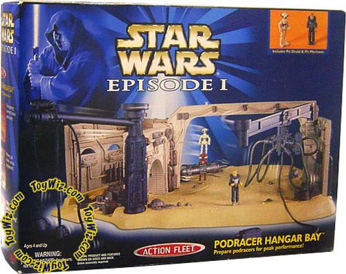 Star Wars The Phantom Menace Micro Machines Episode I Podracer Hanger Bay Mini Figure Playset
