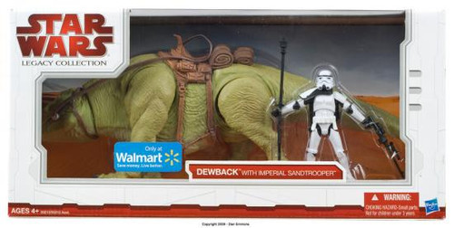 Star Wars A New Hope Legacy Collection 2009 Vehicles Dewback with Imperial Sandtrooper Exclusive Action Figure Set