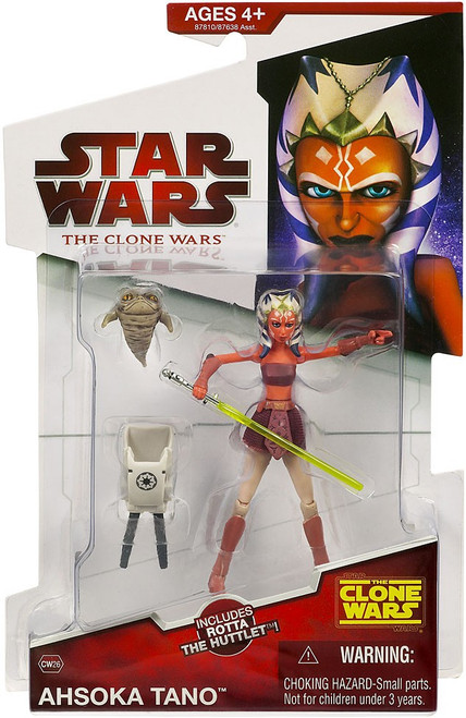 Star Wars The Clone Wars Clone Wars 2009 Ahsoka Tano Action Figure CW26 [Rotta the Huttlet]
