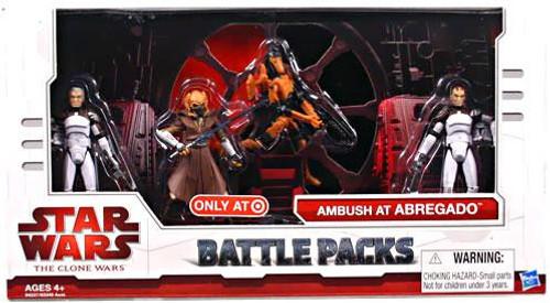 Star Wars The Clone Wars Battle Packs 2009 Ambush at Abregado Exclusive Action Figure Set