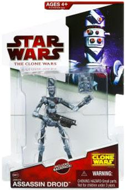 Star Wars The Clone Wars Clone Wars 2009 Ziro's Assassin Droid Action Figure CW37