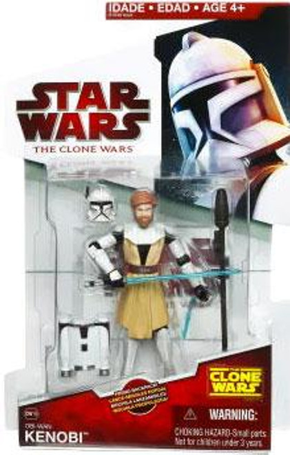 Star Wars The Clone Wars Clone Wars 2009 Obi-Wan Kenobi Action Figure CW19 [Firing Backpack]