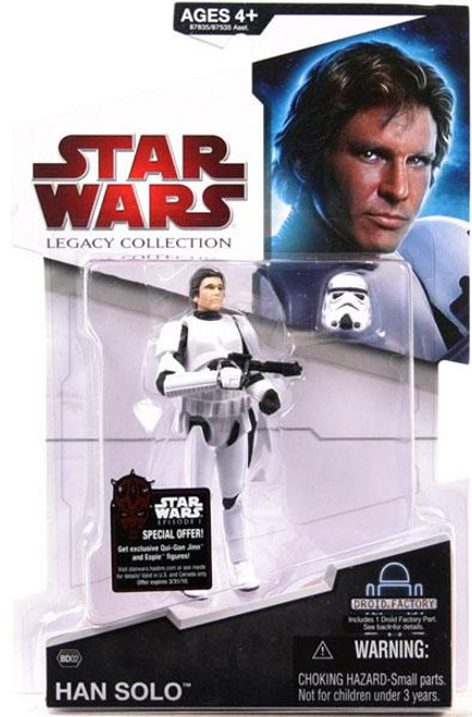 Star Wars A New Hope Legacy Collection 2009 Droid Factory Han Solo Action Figure BD02 [Stormtrooper Disguise]