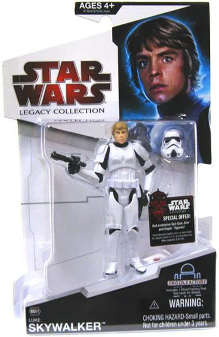 Star Wars A New Hope Legacy Collection 2009 Droid Factory Luke Skywalker Action Figure BD01 [Stormtrooper Disguise]