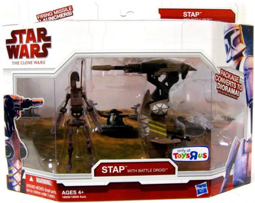 Star Wars The Clone Wars Vehicles & Action Figure Sets 2009 STAP with Battle Droid Exclusive Action Figure Set