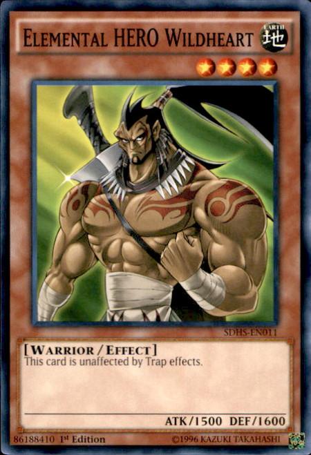 Elemental Hero Wildheart YuGiOh HERO Strike Str...