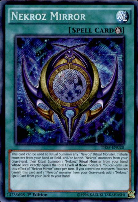 Yugioh the secret forces single card secret rare nekroz for Mirror yugioh