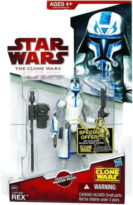 Star Wars The Clone Wars Clone Wars 2009 Captain Rex Action Figure CW50 [Removable Heater Pack]