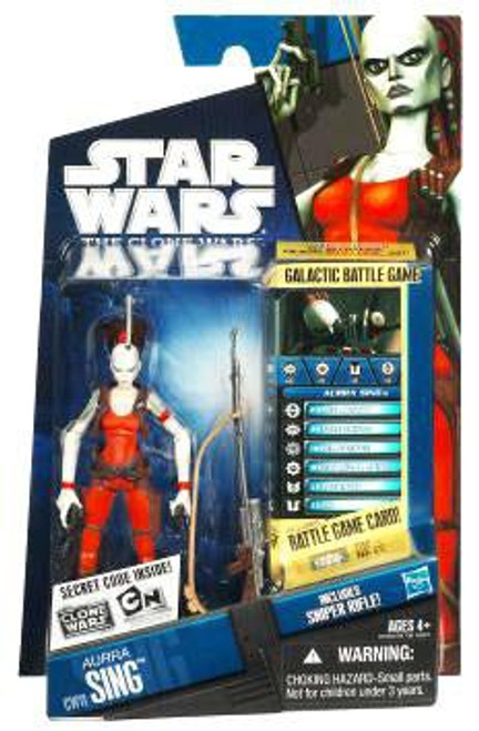 Star Wars The Clone Wars Clone Wars 2010 Aurra Sing Action Figure CW11