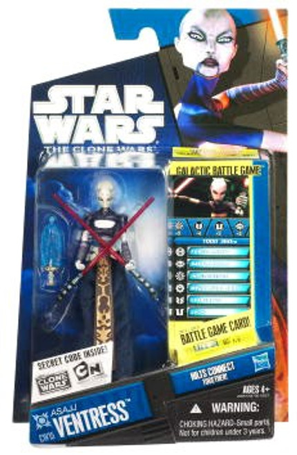 Star Wars The Clone Wars Clone Wars 2010 Asajj Ventress Action Figure CW15