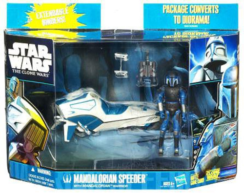 Star Wars The Clone Wars Vehicles & Action Figure Sets 2010 Mandalorian Speeder with Mandalorian Warrior Action Figure Set