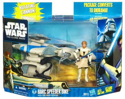 Star Wars The Clone Wars Vehicles & Action Figure Sets 2010 Speeder Bike with Obi Wan Action Figure Set